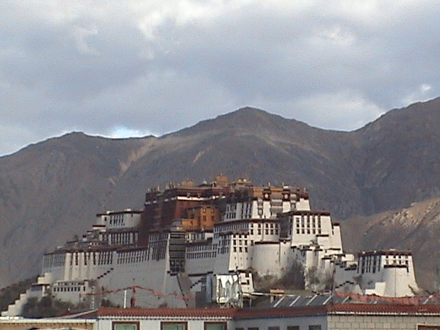 Tibet Lhasa Potola Palace and Skyline